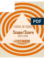 Edital de vagas ESCOPE SCORE 2020- 2021