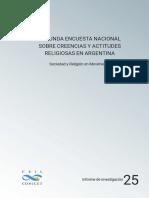 Segunda Encuesta Nacional sobre Creencias y Actitudes Religiosas en Argentina