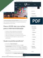 Para a OCDE são 5 as razões para a internacionalização