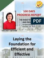 100 Days Progress Report