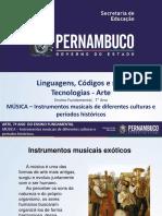 MÚSICA – Instrumentos Musicais de Diferentes Culturas e Períodos Históricos