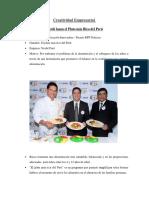 Creatividad empresarial Nestlé Lanza El Plato Más Rico Del Perú