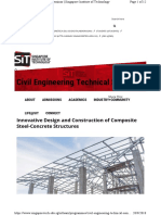 Innovative Design and Construction of Composite Steel-Concrete Structures