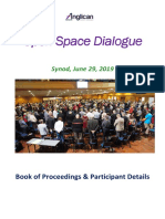 Open Space Brisbane Anglican Synod 2019 Book of Proceedings