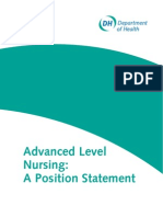 Advanced Level Nurse Position Statement