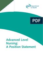 Advanced Level Nurse Position Statement