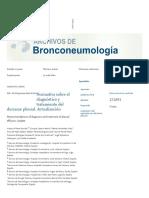 Normativa Sobre El Diagnóstico y Tratamiento Del Derrame Pleural