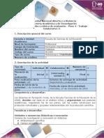 Guía de Actividades y Rúbrica de Evaluación. Paso 4-Trabajo Colaborativo 3