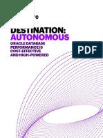 Accenture Destination Autonomous Oracle Database