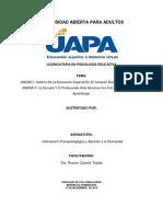 Intervención Psicopedagógica y Atención a La Diversidad _Tarea 1 y 2
