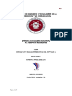 Cuestionario CAPITULO 1 de Niebel Metodos Estandares y Diseño de Trabajo