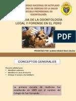 Historia Odontologia Legal y Forense