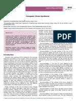 Ocular Ergonomics for the Computer Vision Syndrome