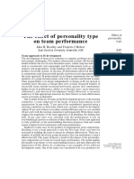 Personality and Team Performance