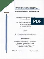 Plan de exportación de Mole a España