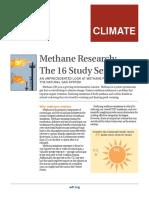 Methane Studies Fact Sheet