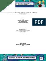 """Evidencia 3 Propuesta """"Estructuración Del Sistema de Trazabilidad"""""""