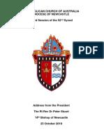 Newcastle Synod 2019 Presidential Address
