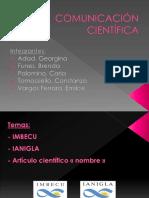 Comunicación Científica Imbecu-ianigla