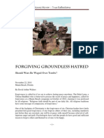 Forgiving Groundless Hatred by David Arthur Walters