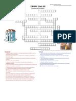 Crucigrama Procesos Del Pensamiento