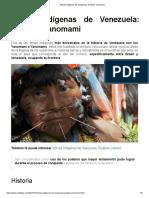 Etnias Indígenas de Venezuela los Pueblos Yanomami