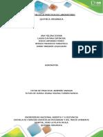 Formato de Informe de La Practica Quimica Organica