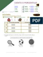 Cuestionario fracciones y porcentajes de fracciones