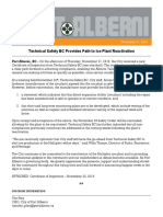 Package - Technical Safety BC Provides Path to Ice Plant Reactivation - Nov 21, 2019
