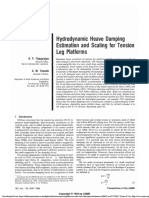 1994 Hydrodynamic Heave Damping Estimation and Scaling for Tension Leg Platforms