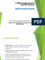 Introduction to Solid Waste Management