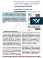 Study on the Spatial Pattern and Driving Factors of China A Class Logistics Enterprises
