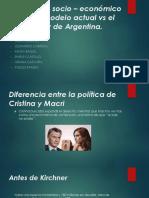 Modelo Actual vs Antiguo Analisis Socio - Economico