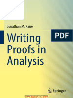 Writing Proofs in Analysis