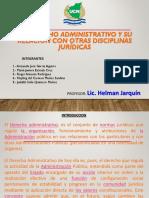 Derecho Administrativo y Su Relacion Con Otras Ciencias
