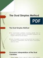 Lecture Dual Simplex Method