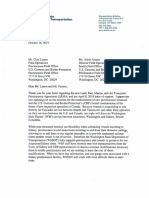 Letter Pertaining to Pre-Clearance for Washington State Ferries