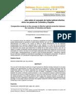 Análisis comparado sobre el concepto de tutela judicial efectiva entre los países de Colombia y España.
