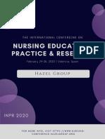 Nursing Conference 2020 Tentative Program