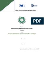 Factores Determinantes de La Adquisición de La Tecnología.