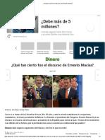 ¿Qué Tan Cierto Fue El Discurso de Ernesto Macías