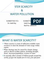 Ppt Water Scarcity & Water Pollution