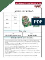 YuGiOh! diciembre - Arsenal Secreto 3