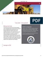 Mining Truck Body - SSAB