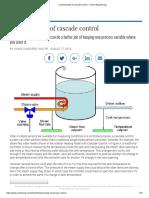 Cascade Control - A case study