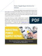 Hire Industrial Power Supply Repair Services for Hassle