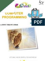 my presentation in computer Programming