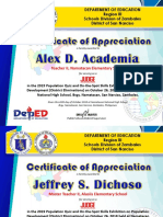 CERTIFICATE of Appreciation Judges