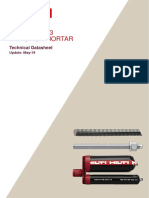 Hilti HIT-RE 500 V3 Injection Mortar Technical Datasheet