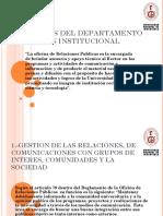 Funciones Del Departamento de Imagen Institucional de la UNI